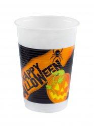 Schaurige Party-Becher Halloween-Tischdeko 8 Stück schwarz-orange 200ml