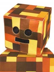 Retro Roboter-Kopf Mütze für Kinder braun-orange-gelb