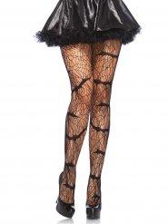 Fledermäuse Halloween-Netzstrumpfhose schwarz