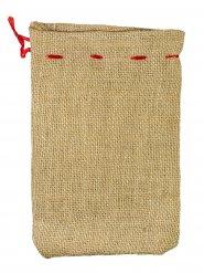 Geschenke-Säckchen Weihnachtsgeschenke beige-rot 22x15cm