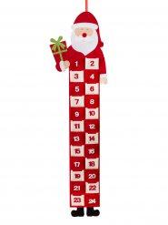 Weihnachtsmann Filz-Adventskalender Weihnachtsdeko rot-weiss 90x26cm