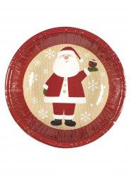 Weihnachtsmann Pappschüsseln Weihnachtsdeko 8 Stück rot-weiss-beige 16,5cm