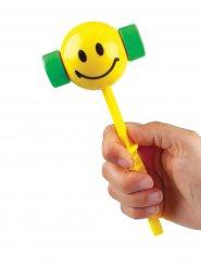 Lachendes Gesicht Rassel gelb-grün 20cm