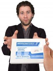 Vaterschaftstest-Kit Scherzartikel Set 7-teilig weiss-blau