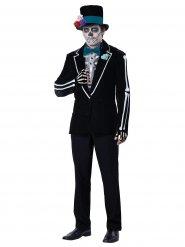 Day of the Dead Skelett Halloweenkostüm schwarz-weiss