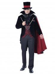 Gothic Vampir-Bräutigam Halloweenkostüm schwarz-bordeaux