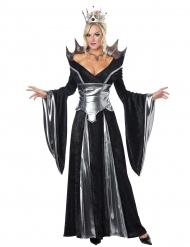 Dunkle Königin Damenkostüm Märchen schwarz-silber