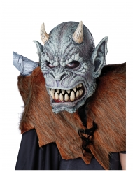 Wasserspeier Ani-Motion Halloween-Maske Monster grau
