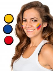 Ecuador Schmink-Set Fussball Make-up 3-teilig gelb-blau-rot 60ml