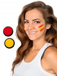 Spanien Schmink-Set Fussball Make-up 2-teilig rot-gelb 40ml
