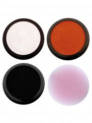 Tiger Schmink-Set Karneval Make-up 4-teilig orange-schwarz-weiss