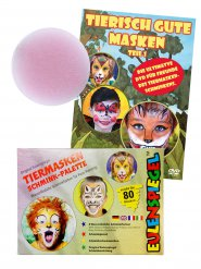 Tier Schmink-Set Karneval Make-up 3-teilig bunt