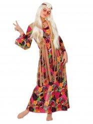 Hippie Damenkostüm 60er-Jahre bunt
