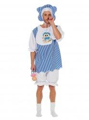 Baby Kostüm Kleinkind blau-weiss