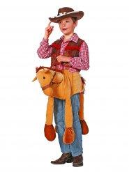 Cowboy-Pferd Reittier Kostümzubehör für Kinder hellbraun