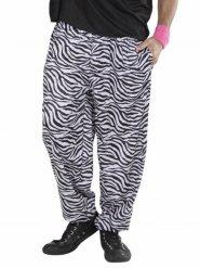80er Zebra Hose Disco schwarz-weiss