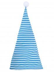 Schlafmütze Zipfelmütze mit Bommel blau-weiss