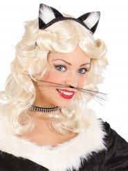 Katze Schnurrhaare Kostümzubehör schwarz