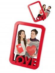 Bilderrahmen Love Foto-Rahmen für Verliebte rot 10x15cm
