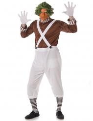 Schokoladen-Fabrikarbeiter Kostüm weiss-braun