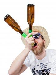 Head Rush Beer Bong Bier-Bong Beerbong 2 Bottle Bong nachtleuchtend Bierstürzer Saufmaschine schwarz-grün 14x11x3cm