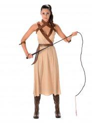 Wüsten-Kriegerin Damenkostüm beige-braun