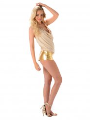 Sexy Popstar Damenkostüm gold