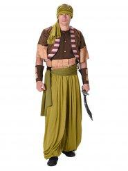 Wüsten-Krieger Kostüm Orient beige-braun-grün