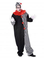 Clown Kostüm Harlekin schwarz-rot-weiss
