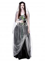 Gothic-Braut Halloween-Damenkostüm schwarz-weiss