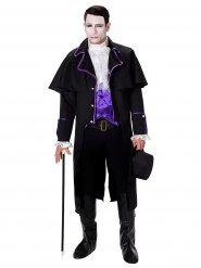 Gothic-Vampir Halloweenkostüm schwarz-weiss