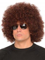 70er-Jahre Riesen-Afro Perücke Faschingsperücke braun