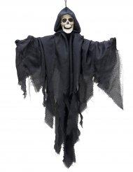 Schwebender Skelett-Geist Halloween-Hängedeko grau 90cm