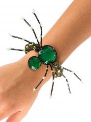 Spinnen-Armband Halloween-Schmuck Gothic grün
