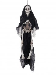 Skelett mit Umhang Halloween-Hängedeko schwarz-weiss 40cm