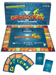 Drinkopoly Gesellschaftsspiel Trinkspiel 6 Personen bunt 47x47cm
