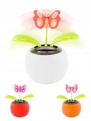 Bewegliche Schmetterling-Figur mit Solarzelle Wackelfigur bunt 11cm