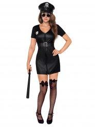 Sexy Polizistin Damenkostüm Cop schwarz