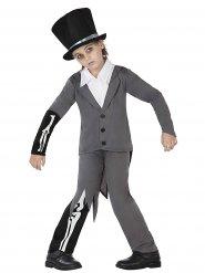 Geister-Bräutigam Halloween-Kinderkostüm Zombie grau-schwarz