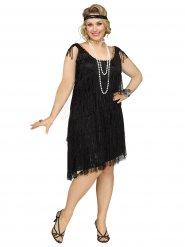 20er-Jahre Charleston Plus Size Damenkostüm Flapper schwarz