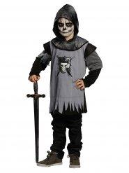 Schauriger Geister-Ritter Halloween Kinderkostüm Mittelalter schwarz-grau