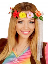 Hippie Blumen-Haarband Kranz Festival-Schmuck bunt