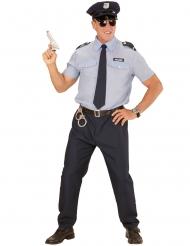 Polizist Kostüm Cop hellblau-dunkelblau-schwarz