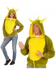 Drache Kapuzen-Hoodie Kostüm-Pullover grün-gelb