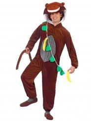 Lustiger Affe mit Banane Jumpsuit-Kostüm Tierkostüm braun