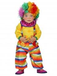 Kleiner Clown Babykostüm Zirkus bunt
