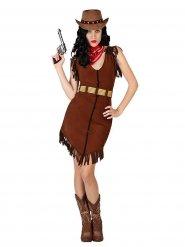 Sexy Cowgirl Damenkostüm Wilder Westen Plus Size braun