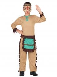 Kleiner Indianer Kinderkostüm Wilder Westen braun-hellblau