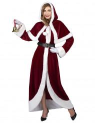 Hochwertiges Weihnachtsfrauen-Kostüm rot-weiss