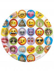 Pappteller Emoji™ 8 Stück bunt 23 cm